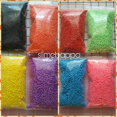 Combo 5 bịch hạt xốp size 3 – 5 mm làm slime xốp, hộp quà (màu ngẫu nhiên)