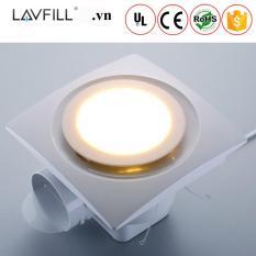 Quạt thông gió, quạt hút gió âm trần-ốp trần có đèn LED LAVFILL LFCV-12D-5