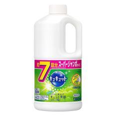 Nước rửa bát, nước rửa chén đậm đặc KAO của Nhật Bản 1380ml, hàng Nhật nội địa (hương nho)