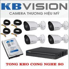 [GIÁ SIÊU SỐC] Trọn Bộ 4 Mắt Camera 2.0M Full HD KBVISION – Tặng Kèm Ổ Cứng 500GB – Phụ Kiện Đầy Đủ – Lắp Đặt Dễ Dàng