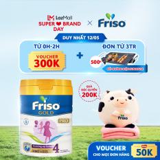 Sữa Frisolac Gold Pro 4 800g – cho trẻ trên 3 tuổi – Tặng bộ mền gối con bò