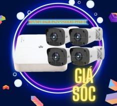 Trọn bộ KIT 4 camera IP UNV POE 2.0MP Full HD