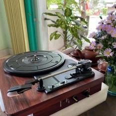 Máy hát đĩa than – 3 tốc độ – loa liền máy