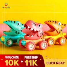 Đồ chơi trẻ em xe khủng long SIÊU TO chạy đà 4 bánh SIÊU HOT 2021 nhựa ABS cao cấp cho trẻ từ 1 tuổi trở lên vui chơi và phát triển kỹ năng vận động, quan sát