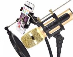 Trọn Bộ Thu Âm, LiveTream Trên Điện Thoại, Mic C11 Cực Hay, Cực Đẹp, Phù Hợp Với Mọi Loại Điện Thoại, Mic Hat Karaoke Kiem Loa,Micro Thu Âm Tại Nhà, Micro Karaoke + Livestream Kiêm Sound Card 3 In 1 Cao Cấp