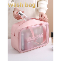 Waterproof Cosmetic Bag Ins Large Capacity Portable Travel Toilet Bag PVC Transparent Cosmetic Storage Bag