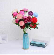 1 cành 3 bông hoa mẫu đơn – hoa hồng quý tộc lụa nhiều màu sắc chất liệu lụa cao cấp mang vẻ đẹp sang trọng phù hợp trang trí phòng, hoa giả trang trí, hoa treo tường, hoa tết, hoa giả để bàn, hoa giả cao cấp MS 16 – LANION HOUSE