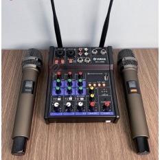[ Xả Kho ] Combo Trọn Bộ Mixer Yamaha G4 Bluetooth – Tặng Kèm 2 Micro Không Dây ,Bàn Mixer G4 Live Stream | Karaoke Xe Hơi Hỗ Trợ Màn Hình LED Có Bluetooth Dành Cho Loa Kéo – Âmly Dàn Hát Karaoke Gia Đình Âm . Bảo Hành 12 Tháng