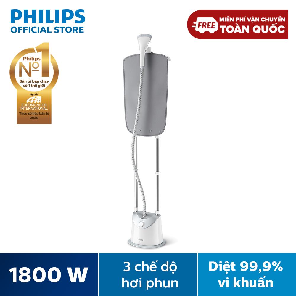 [Tặng Nồi cơm HD3115 – SL có hạn] Bàn ủi Philips hơi nước đứng GC487/89 1800W, hơi phun 35g/phút – Hàng phân phối chính hãng