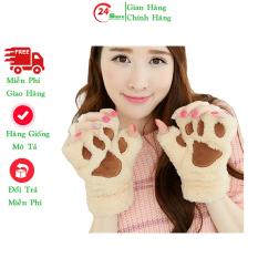 [HCM]Găng tay xỏ ngón găng tay nữ hình gấu kute siêu hót 2021