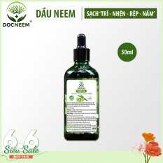 Dầu neem hữu cơ DOCNEEM phòng diệt sâu bệnh hoa hồng, phong lan, cây cảnh, dầu neem oil nguyên chất ép lạnh 50ml