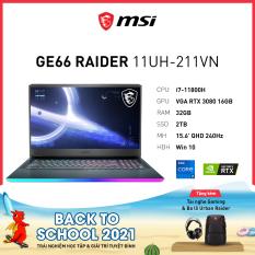 MSI GE66 Raider 11UHZ-211VN (i7-11800H | 32GB | 2TB | GeForce RTX™ 3080 16GB | 15.6′ QHD 240Hz | Win 10)