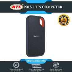 [Nhập ELAPR21 Giảm 10% đơn từ 99K, Max 200K] Ổ cứng di động SSD Sandisk Extreme Portable E60 USB 3.1 500GB 550MB/s (Đen) – Nhất Tín Computer
