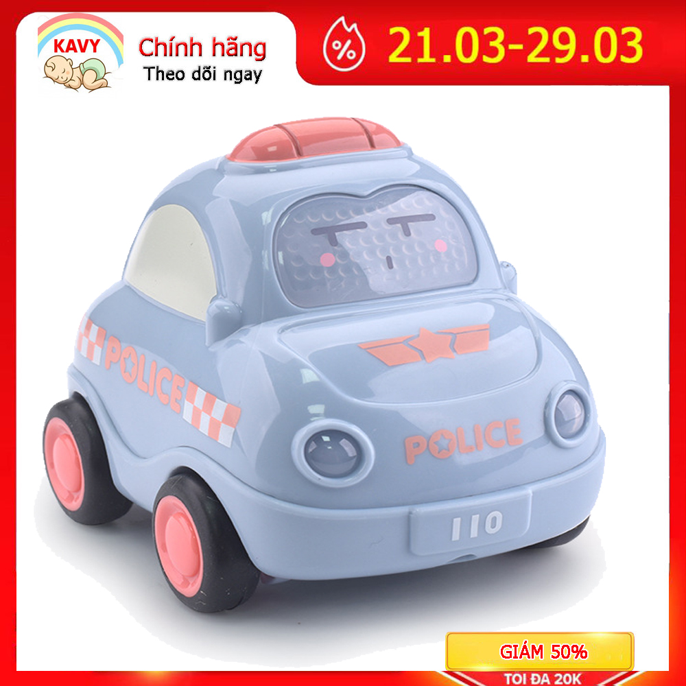 Bộ đồ chơi ô tô quán tính có đèn và nhạc mô tả xe cứu hỏa, cứu thương, cảnh sát,...
