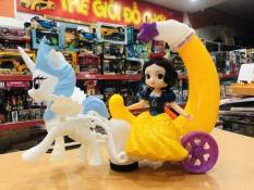 Đèn lồng trung thu [HÓT SALE] Ngựa kéo xe Công chúa Bạch Tuyết, tặng kèm pin, cuối mùa có thể bỏ cán làm đồ chơi