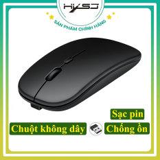 Chuột không dây (GIẢM GIÁ CỰC SỐC) sạc pin siêu mỏng 2.4GHz HXSJ M01 không gây tiếng ồn sạc 1 lần dùng 1 tuần cho Laptop macbook PC Tivi – Hàng Chính Hãng