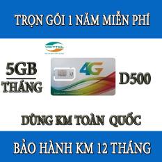 SIM 4G VIETTEL D500 5Gb/tháng vào mạng trọn gói 1 năm miễn phí dùng cho dien thoai gia re,máy tính bảng,wifi,dcom-sim 4g viettel trọn gói 1 năm