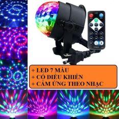 (Tặng remote)Đèn LED 7 màu vũ trường cảm ứng nhạc, bóng đèn LED trụ, đèn LED xoay 7 màu sân khấu chớp theo nhạc, Đèn nháy theo nhạc, đèn chớp 7 màu, đèn trang trí, đèn Led karaoke, đèn Led vũ trường, đèn cảm ứng âm thanh