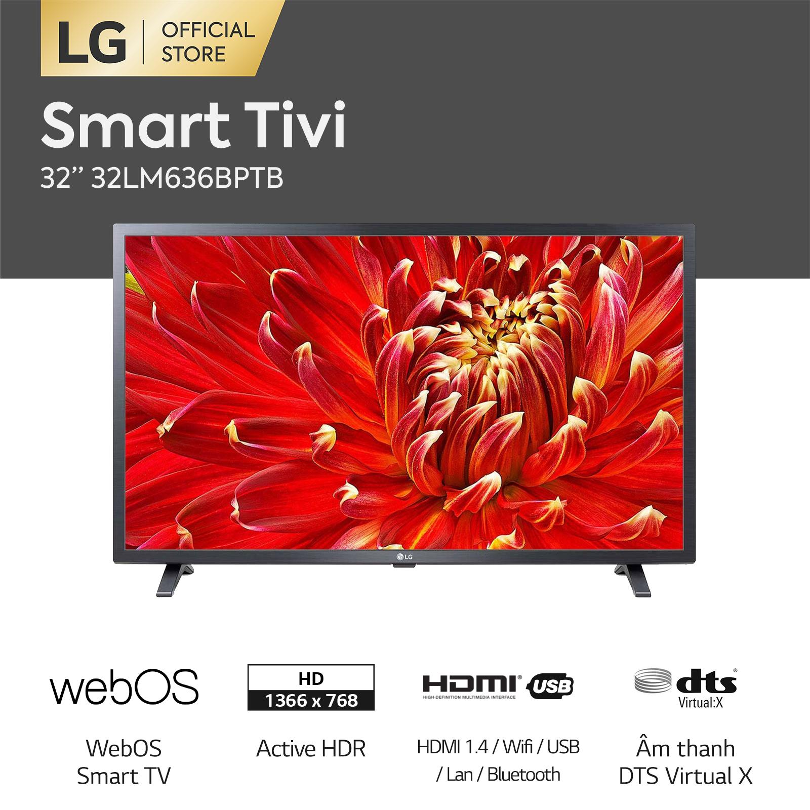 [VOUCHER 650K] [FREESHIP 500K TOÀN QUỐC] Smart Tivi LG 32 inch HD 32LM636BPTB – Hãng phân phối chính thức