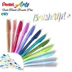 Pentel brush sign pen pastel – Bút viết thư pháp, calligraphy, kanji SES15C, sản phẩm được kiểm tra trước khi giao hàng