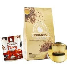 Cà phê bột nguyên chất Light coffee loại Đặc biệt , vị đậm , đắng , mạnh , không tẩm ướp hương liệu, 500g – Tặng Cacao sữa Terry 50g