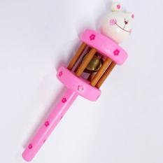 Đồ chơi xúc sắc 1 chuông hình thú bằng gỗ cao cấp đẹp, an toàn cho bé