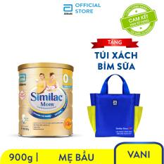 Lon sữa bột Similac mom 900g Tặng Túi xách bỉm sữa