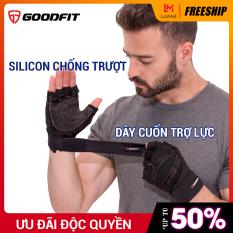 Găng tay tập gym, tập tạ có quấn GoodFit GF201G