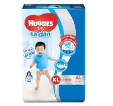 ã Dán Huggies Dry Gói Cực Đại M76, L68, XL62 – Bao Bì Mới