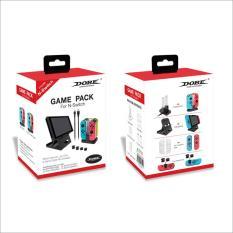 Giá để Máy + Dock sạc + Ốp+Thumgrips cho Joycon NS+Game Pack TNS 18115