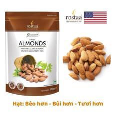 Hạt Hạnh nhân Mỹ Tách vỏ 200gr – sấy khô tự nhiên – hạt dinh dưỡng Rostaa (Sản phẩm USA) – Đồ ăn vặt dinh dưỡng cho bà mẹ mang thai
