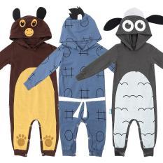 Combo 3 bộ Bodysuit Dài hình thú ngộ nghĩnh cho bé trai và bé gái – PBDS_CB