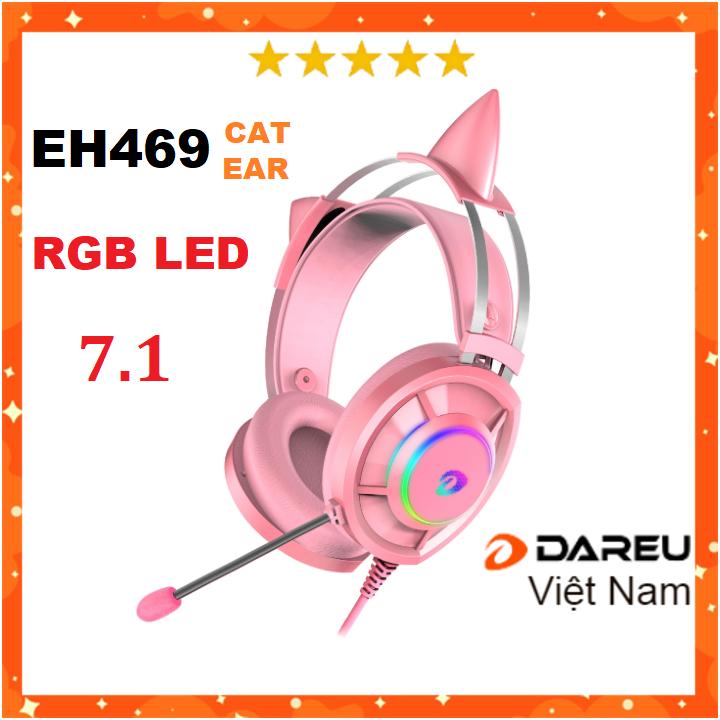 Tai nghe Gaming Dareu EH469 RGB – Hồng Pink
