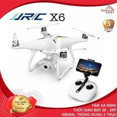 [ COMBO 2 PIN ] Flycam JJRC X6 thế hệ mới Động cơ không chổi than, Gimbal trống rung 2 trục, camera 1080P, thời gian bay 25 Phút