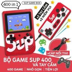 Máy chơi game cầm tay mini Sup 2 người chơi chứa 400 game kinh điển cực hấp dẫn, cực vui, giảm stress