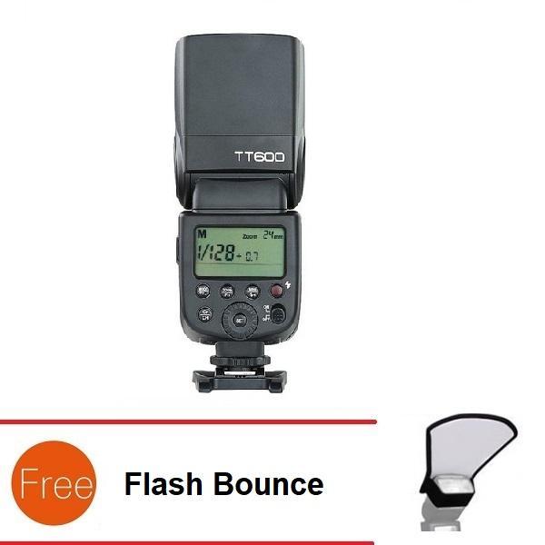 Đèn Flash Godox TT600 cho Canon Nikon Sony Pentax - GN60 - HSS 1/8000s Remote 2.4GHz - Tặng Flash bounce