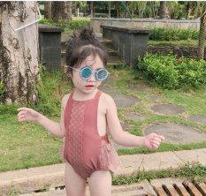 Bikini liền thân đi biển cho bé gái/bộ bơi liền thân bé gái váy xòe cực xinh mẫu hot nhất 2021 hàng Quảng châu loại 1