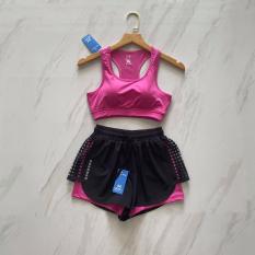 Bộ tập áo bra quần đùi có thể mặc tập thể dục hay bơi lội cho nữ