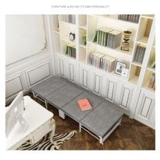 [Có Video] Giường đơn gấp gọn 4 miếng kích thước 80×195 cm có bánh xe, khung thép
