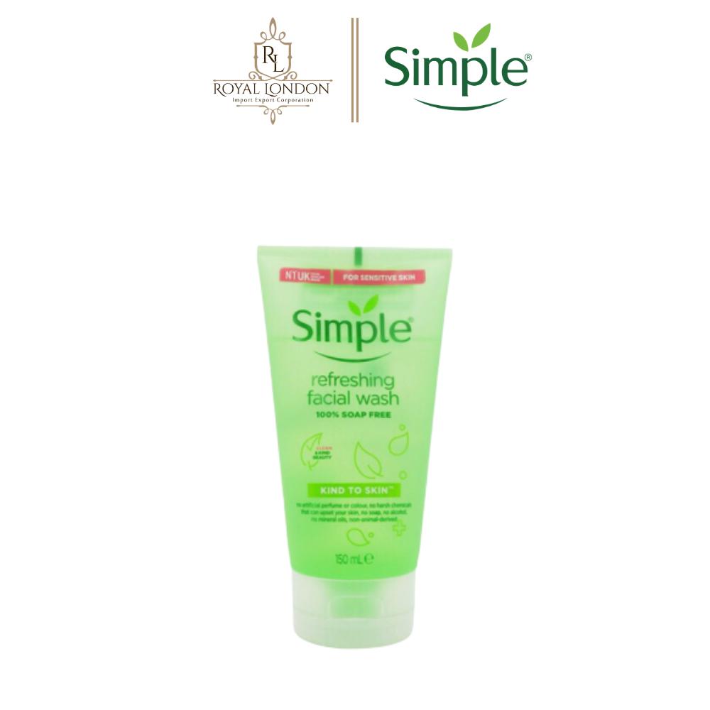 Sữa Rửa Mặt Dịu Nhẹ Simple Kind To Skin Refreshing Facial Wash 150ml