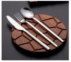Bộ 3 món (dao + muỗng + nĩa) inox 304 – Onlycook – 19CM