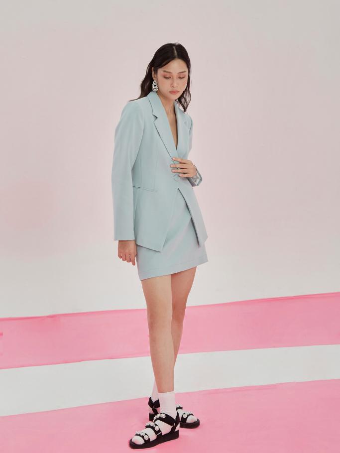 COCO SIN – Blazer Xanh Green Blue Form Fit