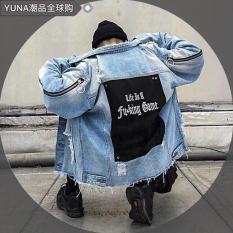 Áo khoác jean NAM NỮ UNISEX thời trang ANGEL tay khóa AG012