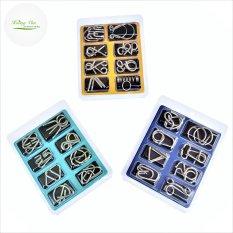 Bộ đồ chơi mở khóa bằng kim loại – Thử thách trí tuệ siêu vui gồm 8 mẫu liên kết khóa khác nhau