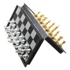 Bộ cờ vua cao cấp có nam châm từ tính kích thước 25 x 25cm có thể gấp gọn tiêu chuẩn châu Âu