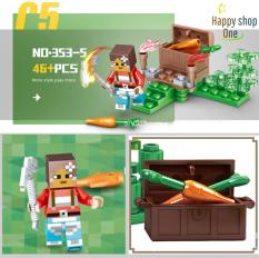 Lego Minecraf Ngôi Làng 💖 Lego Minecraf 353 (có 4 hộp – giao ngẫu nhiên 1 trong 4)💖