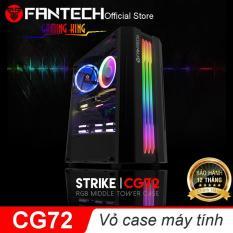 Vỏ cây máy tính, Vỏ case máy tính, Vỏ thùng máy tính Hỗ trợ đèn LED siêu đẹp Fantech CG72