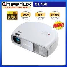 Máy chiếu phim Full HD projector Cheerlux Cl760-UP,nâng cấp 9/2020 xem nét 150 Inch, đèn Led 150W, 3600 Lumens sáng rõ, Zoom điện tử.