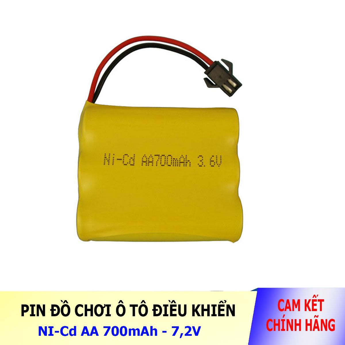Pin Ni-Cd 3.6V 700mAh cổng SM dành cho xe đồ chơi ô tô điều khiển (vàng)