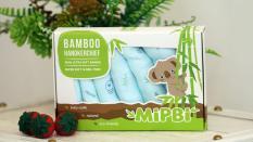 Hộp 6 khăn sữa sợi tre Mipbi cao cấp 100% sợi tre 3 lớp siêu mềm 30x30cm